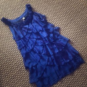 SALE🎉Signature by Robbie Bee Sz 8 Blue dress
